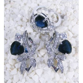 Комплект синие кристаллы (под сапфир) - Айбике