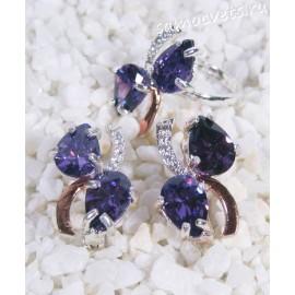 Комплект фиолетовые кристаллы - Айбике