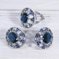 Комплект тёмно - синий Фианит - Тавис