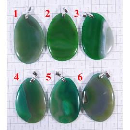 Кулон из Агата оттенки Зелёного - 2