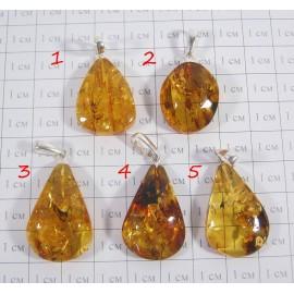 Кулон из натурального янтаря Золотая осень - 2