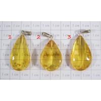 Кулон из натурального янтаря Золотая осень - 3