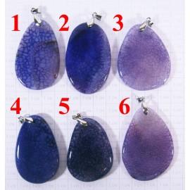 Кулон из Агата оттенки Фиолетового полированный - 2