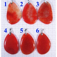 Кулон из Агата оттенки оранжевого полированный - 1