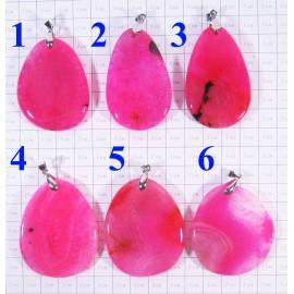 Кулон Агат оттенки розового полированный - 2