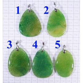 Кулон из Агата оттенки Зелёного полированный - 2