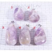 Кулон из лавандового Аметиста Каменные капли - 5