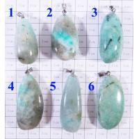 Подвеска Амазонит Каменные капли - 1