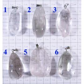 Кулон Горный хрусталь Каменные капли - 1