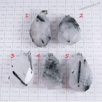 Кулон агат волосатик - Большой кристалл 1