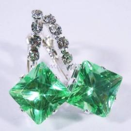 "Серьги Светло - Зелёные Кристаллы ""Кристаллина"""