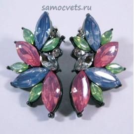 Гвоздики Принцесса Разноцветные Кристаллы