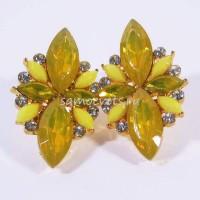 Гвоздики - Серьги Жёлтые Кристаллы