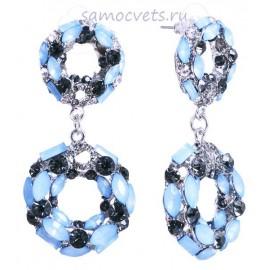 Гвоздики Опалово - Голубые Кристаллы