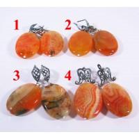 Крупные Серьги из Оранжевого Агата Источник cамоцветов - 2