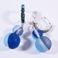 Серьги с Голубым Опалом искусств. Мир прекрасного 8-12 мм