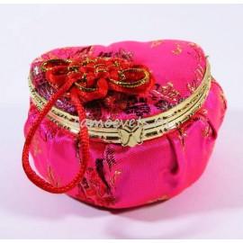 Шкатулка с зеркалом Сердце Ярко - Розовая
