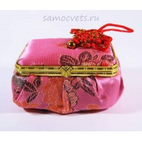 Шкатулка с зеркалом Светло - Розовая