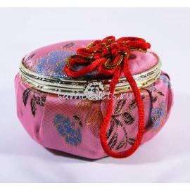 Шкатулка с зеркалом Розовая овал
