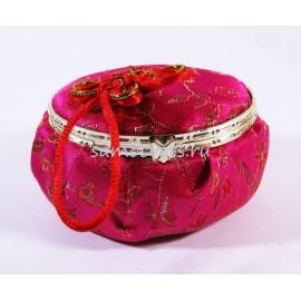 Шкатулка с зеркалом Ярко - Розовая овал