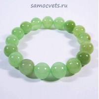 """Браслет из натурального Оникс Зелёный """"Классика"""" 12 мм"""