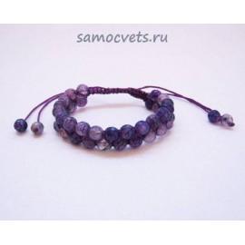 "Браслет Агат ""Ашан"" Фиолетовый"