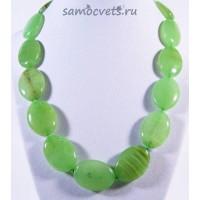 """Бусы """"Петра"""" Оникс Зелёный"""
