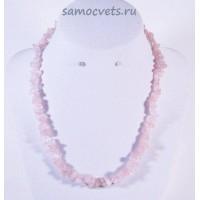 Бусы Крошка мелкая Розовый кварц