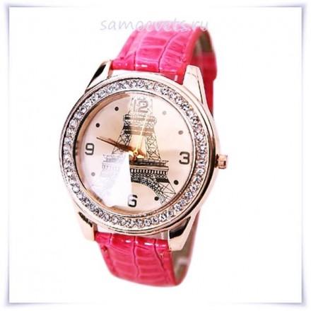 "Часы ""Эйфелева башня"" Розовый браслет"