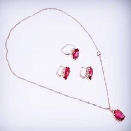 """Комплект """"Принцесса"""" Розовый Кристалл"""