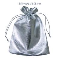 Подарочный мешочек из парчи 7х9 см Серебристый