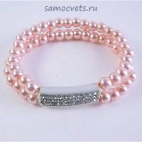 Браслет из Майорки 2 ряда - Розовый м1