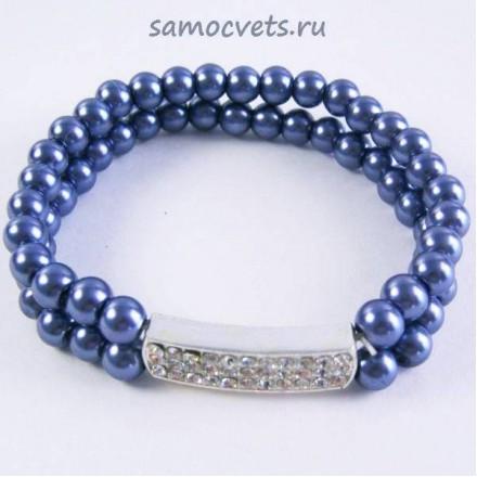 Браслет Майорка 2 ряда - Синий